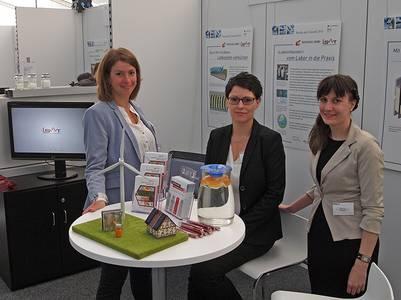 Katrin Schmidt, Sandra Ebert und Sabrina Tietze (v.li.) vom ISAT in Berlin