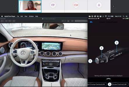 Screenshot von Mercedes Cockpit