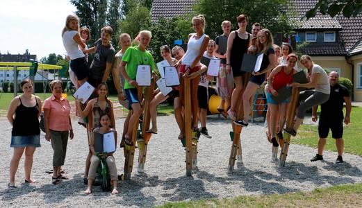 """Teilnehmer des Projektes """"Sport-, bewegungs- und körperorientiere Sozialarbeit"""""""