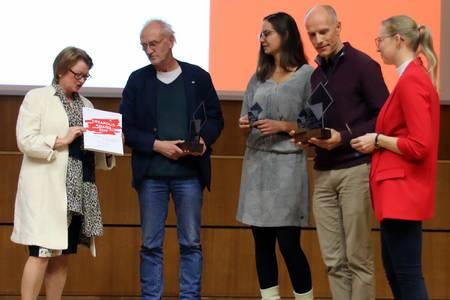 Christiane Fritze, Klaus Ospald, Monika Schnabel, Christian Holtorf und Elisabeth Westhäuser (v.li.)