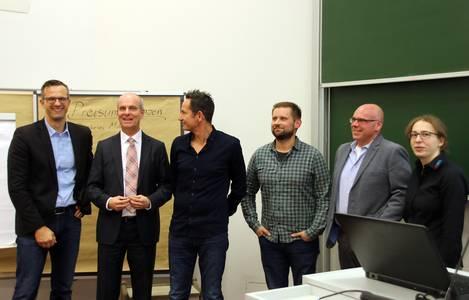 Florian Bertges, Claus-Burkard Böhnlein, Stefan Knoll, Willi Reinhardt, Holger Epp und Johanna Roth