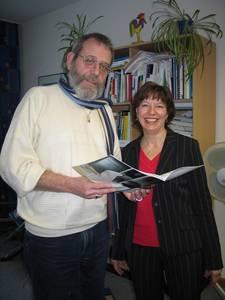 Vizepräsident Prof. Dr. W. Reiners-Kröncke und Frau Dr. M. Bögelein. (Foto: C. Brossmann)
