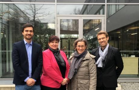 Michael Renz, Sybille Barth, Prof. Elisabeth Krön und Prof. Michael Lichtlein (v.li.)
