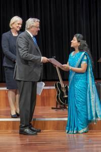 DAAD-Preis 2019 Annette Stegemann, Prof. Dr. Heinrich Schafmeister und Pavithra Pandiaraj