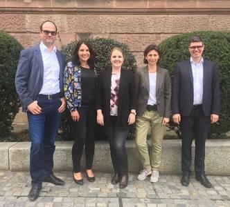 Teamfoto Prof. Dr. Niko Kohls, Christina Röhrich, Verena Karl, Gabi Pfeifer, Prof. Dr. Dennis John