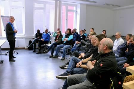 Besucher der Kurses von Coach Wener Schmidt