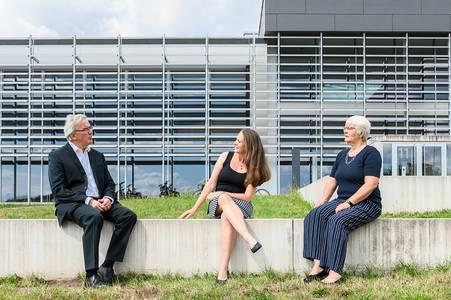 Prof. Hertrich, Nicole Strehl, Prof. Michel