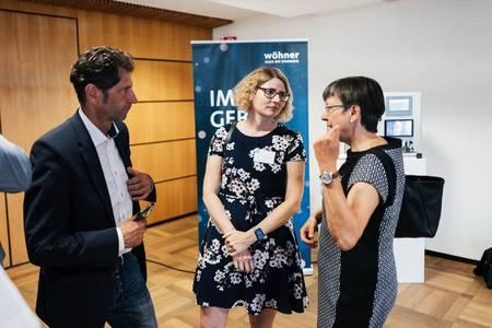 Professor Michael Steber, Professorin Aileen Funke und Heidrun Piwernetz