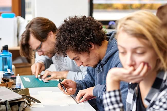 Skizzieren und Planen - Teil des Designstudiums