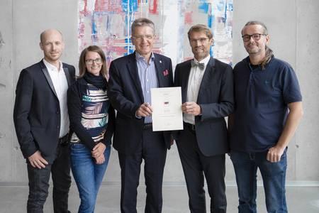 Prof. Dr. Christian Zagel, Viktoria Grohmann, Hans Rebhan, Prof. Dr. Michael Lichtlein und Dr. Mark Hoffmann
