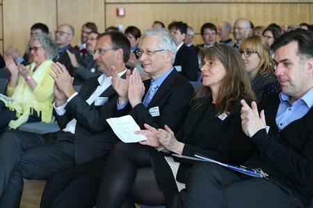Birgit Stubner, Michael Pötzl, Franz Waldherr und Vizepräsident Eckard Buchholz-Schuster (v.li.)