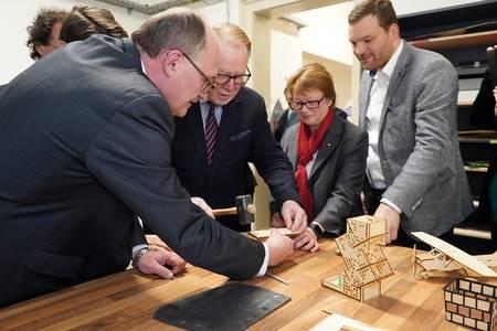 Michael Meister, Hans Michelbach, Christiane Fritze und Markus Neufeld (v.li.)