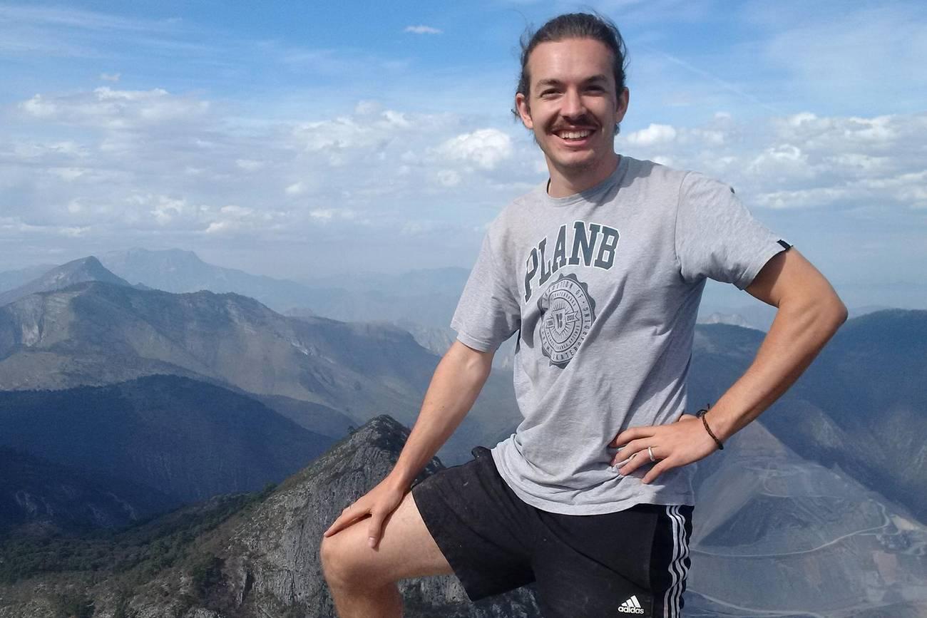 Franz Liebermann auf einem Berg in Mexiko
