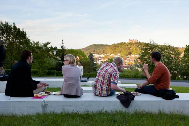 Blick auf Coburg vom Campus Friedrich Streib