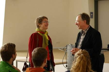 Prof. Dr. Daniela Nicklas und Prof. Dr. Thomas Wieland im Gespräch