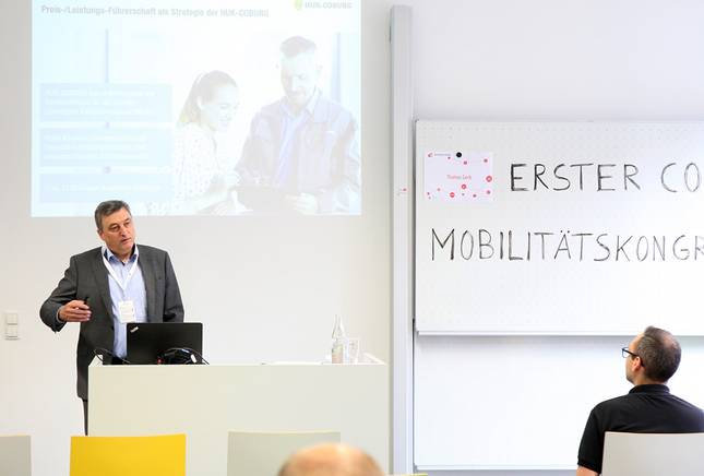 Referent beim ersten Coburger Mobilitätskongress