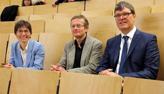 Prof. Alexandra Troi, Olaf Huth und Matthias Jagfeld