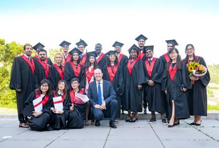Gruppenbild von internationalen Studierenden