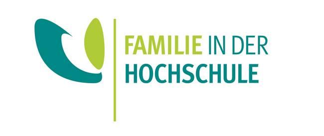 Logo mit Schriftzug Familie in der Hochschule