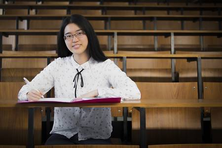 Lisa Feng im Hörsaal