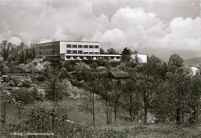 Neubau der Staatsbauschule im Jahr 1960.