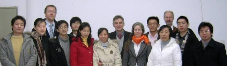 Joint-Management-Commission mit den in Shanghai ausgewählten Studenten.