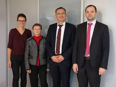 Dr. Pavel Novgorodov, Prof. Dr. Eduard Gerhardt, Prof. Dr. Christiane Fritze, Veronika Wagner
