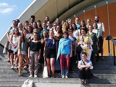 Studierenden der Internationalen Sozialen Arbeit auf Exkursion in Berlin