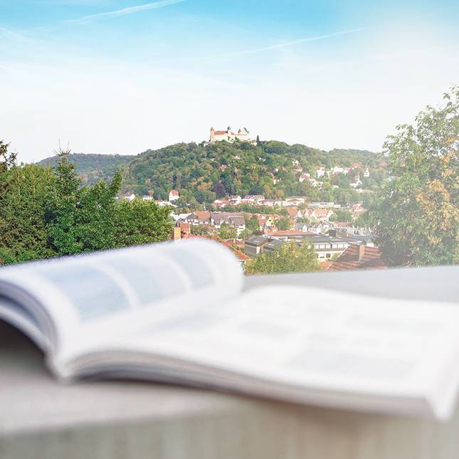 Ausblick von der Hochschule zur Veste Coburg