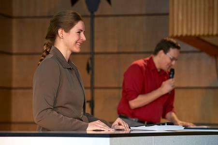 Sarah Andiel und Thore Wojke vom Debattierclub