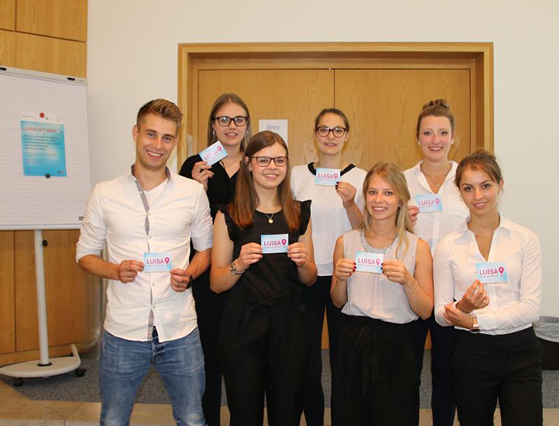 Gruppenfoto der am Projekt beteiligten Studierenden