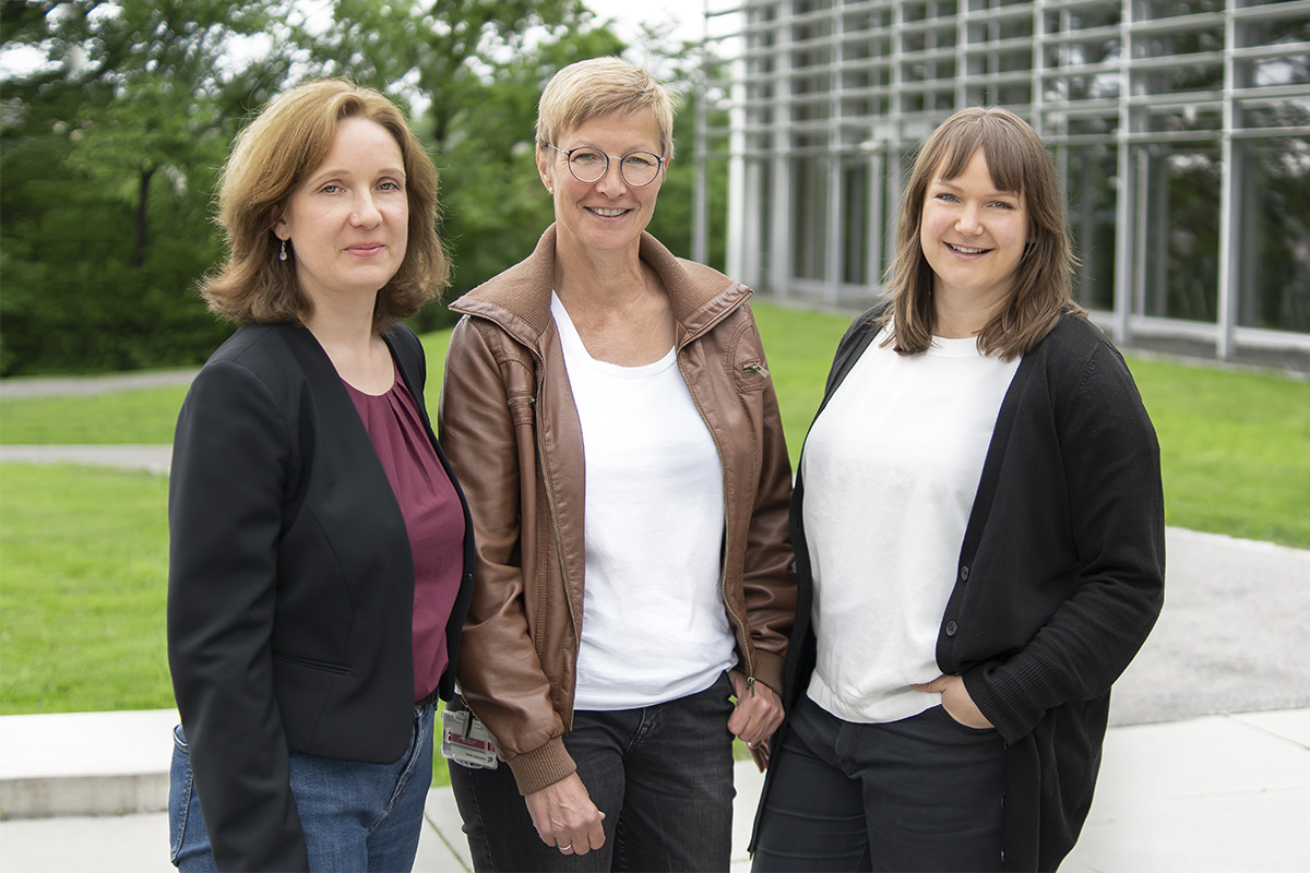 Katja Kessel, Silke Thiel und Miriam Hegner